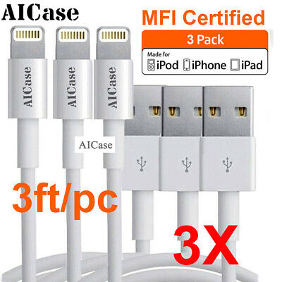 3FT AICase Certified Apple MFI Lightning USB Sync Data Cable iPhone XS Max 8 7 6