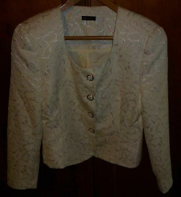 VINTAGE 1980s CARLA ZAMPATTI 2 PIECE SUIT SIZE 10 EXCELLENT CONDITION