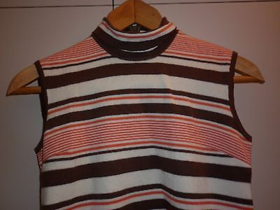 VINTAGE 1960s GROOVY WOOL VEST  SIZE 10 EXCELLENT CONDITION