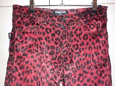Dangerfield Stretch Velvet Leopard Print Jeans Size 8 Excellent Condition