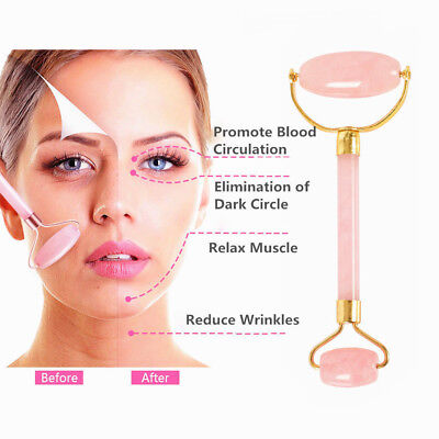 1pcs Double Head Anti-aging Natural Massage Roller for Face Beauty Guasha Stone