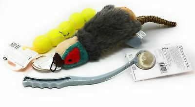 3 Pce Official Licensed Dog Pet Tennis Balls Grey Launcher Honking Pheasant Toy