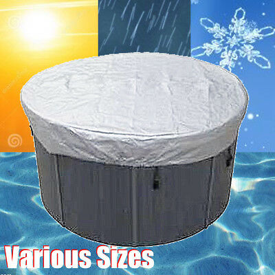Various Sizes Silver Round Spa Cover Cap Waterproof Oxford Fabric Protector