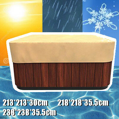 Yellow Square Hot Tub Spa Cover Cap Durable Weather Proof Breathable Protection
