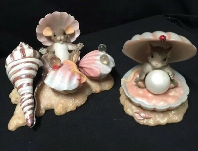 Charming Tails Seashells lot of 2 Fitz and Floyd 83/108 and 89/269
