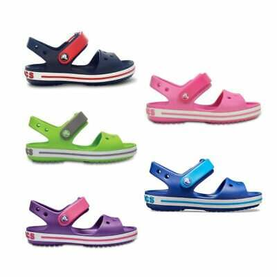 Crocs CROCBAND SANDAL KIDS Unisex Boys Girls Touch Fasten Summer Beach Sandals