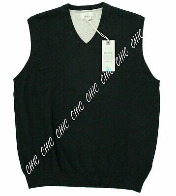 Marks & Spencer Mens Sleeveless Slipover Sweater Jumper Vest Cotton Pullover M L