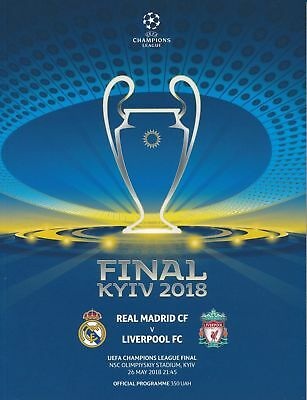 2018 Uefa Champions League Final Liverpool Real Madrid Mint Programme + Extra