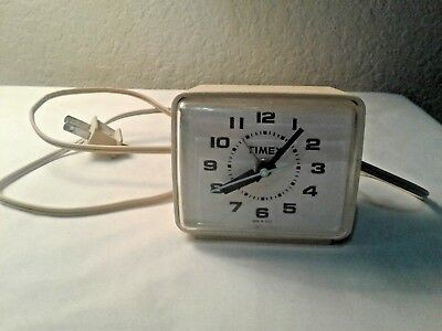 Timex Vintage Alarm Clock Works Great! Made In Usa