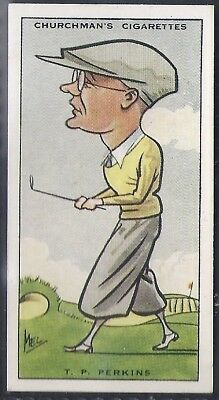 Churchman-Prominent Golf Ers (Standard Size)-#32- Phil Perkins