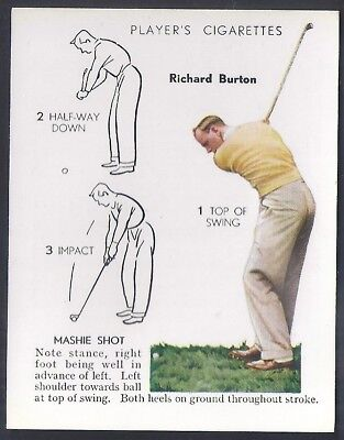 Players Overseas Issue-Golf (L25)-#06- Mashie Shot - Richard Burton