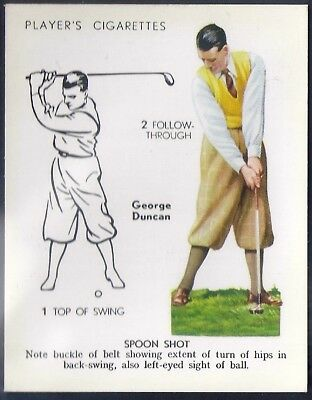 Players Overseas Issue-Golf (L25)-#14- Spoon Shot - George Duncan