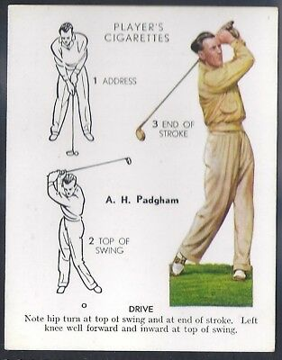 Players Overseas Issue-Golf (L25)-#21- Drive - Padgham