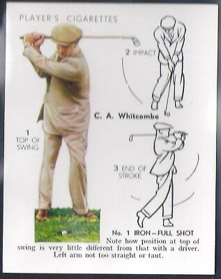 Players Overseas Issue-Golf (L25)-#24- Iron Full Shot - Whitcombe