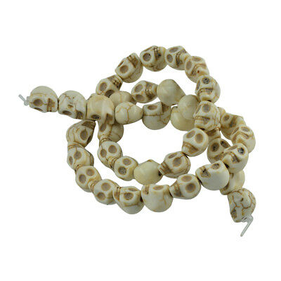 1 Strand White Turquoise Skull Head Spacer Beads DIY Bracelets Necklace