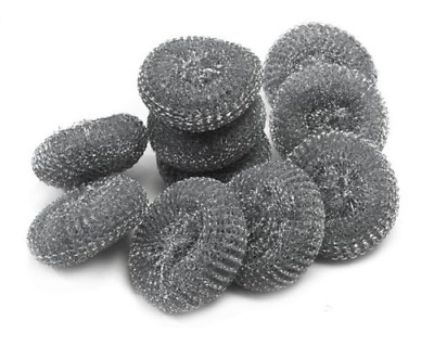 10x Galvanised Professional Metal Scourers Large Heavy Duty 60g Catering Quality