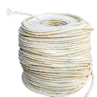 1M 6mm DIY Cat Scratching Post Natrual Cordage Twisted Sisal Rope Funny Pet Toys