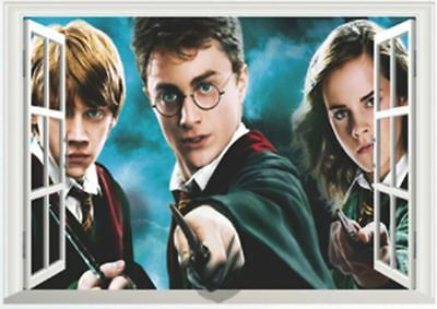 STICKERS AUTOCOLLANT TRANSP POSTER A4 MIX FILM MOVIE HARRY POTTER RON HERMIONE..