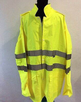 M-Safe By Majestic High-Visibility Mens L 100% Polyester Rain Jacket Yellow