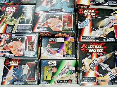 Star Wars Mixed Vehicles Creatures & Figures - Mib - See Photos!