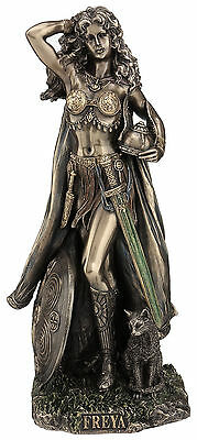 Freya Norse Goddess of Love, Beauty, Fertility and War Statue Sculpture Figure