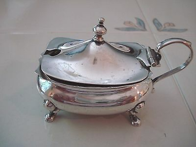 Antique Sterling Silver Birmingham - Mappin & Webb - Mustard Pot - 69.4 grams