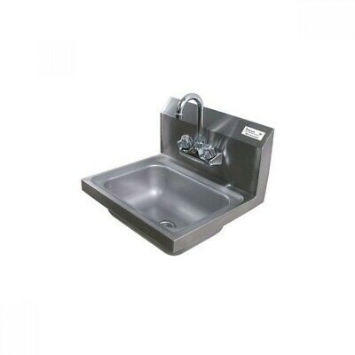 "BK Resources BKHS-W-1410-P-G 4"" Center Splash Mount Faucet 14"" x 10"" Hand Sink"