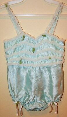 Vintage Mid Century Baby Girl Toddler Satin & Tulle Romper Outfit