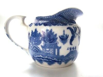 Blue Willow Creamer Marked JAPAN