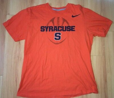 new style f8311 fd2d4 Nike Syracuse Football T Shirt NCAA New York Orange Adult Large College