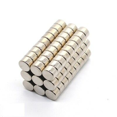 Neodym Magnets 8 x 5 mm Super High Holding Strength Disc N35 500 Piece
