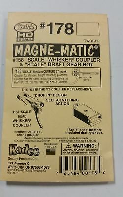 "Kadee #178  ""Scale"" Whisker® #158 Coupler & ""Scale"" Draft Gear Box Metal Medium"