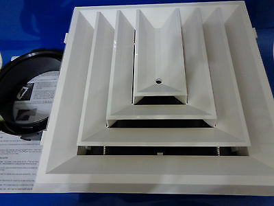 Hart & Cooley REZZIN RZ-Square 12X12 Ceiling Diffuser 3-Way w/Damper RZ-503, NEW
