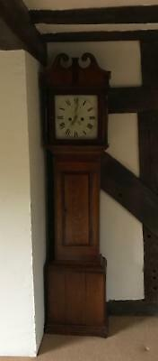 Antique Oak Grandfather Clock Pollard of Crediton Oak Cased Working Order