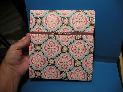 NEW Studio 18 Address Book Blue Pink Floral Paisley Print   L2