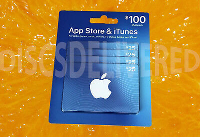 Apple APPs and iTunes gift cards 4x $25=$100 total