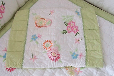 Pottery Barn Kids Pink Floral Madeline Small Crib Sham