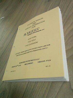Rodgers 650 York, 705 Kent, 740 Glasgow Technical Manual &Service Information