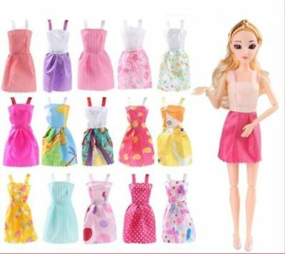 10PCS Handmade Mini Dresses Dancing Skirt Clothes Outfit Gown for Barbie Doll US