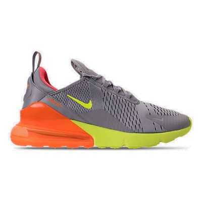 Men's Nike Air Max 270 Casual Shoes Atmosphere Grey/Volt/Total Orange AH8050 012