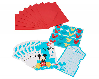 American greetings mickey mouse 1st birthday invite postcards 8 american greetings mickey mouse 1st birthday invite postcards 8 count m4hsunfo