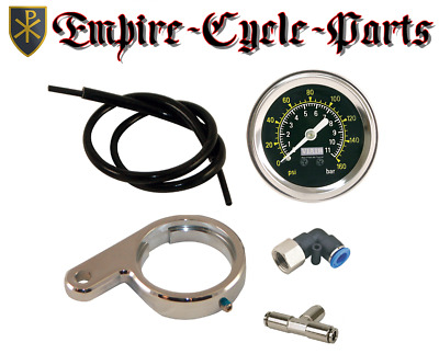 Air Pressure Gauge Kit For Harley Air Ride Suspension.evo,twin Cam & M-8 Models
