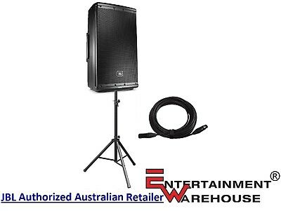 """JBL EON612  1000watt, 12"""", Two-Way, Self-Powered Speaker + Stand and Cable"""