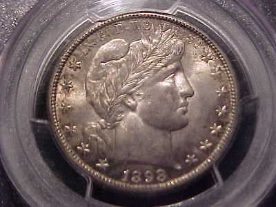 PCGS MS-62 CAC  1898-S  Barber Half Dollar   Sharp Strike, Nice Coin
