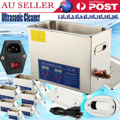 Digital Stainless Ultrasonic Cleaner Ultra Sonic Bath Cleaning Tank Timer Heate