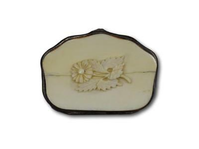 French 19th.Century Victorian Carved Coin Purse Change Pouch