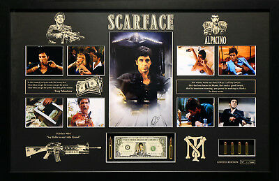Scarface Al Pacino Movie Memorabilia Signed Framed Limited Edition Poster Photo