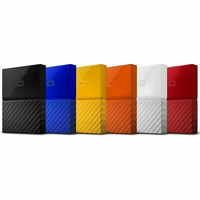 "Western Digital WD My Passport 1TB 2TB 4TB 2.5"" Portable External Hard Drive HDD"
