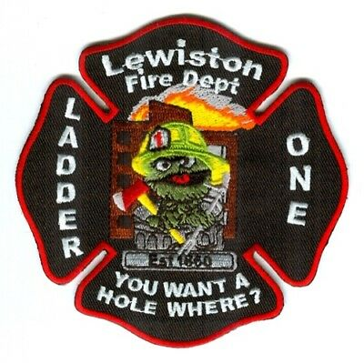 Lewiston Fire Department Ladder One Patch Maine ME SKUFC2