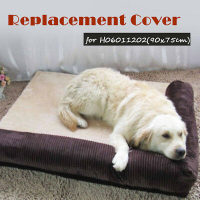 Soft Washable Replacement Cover for  Dog Cat Puppy Bed Basket 90*75cm 110*95cm